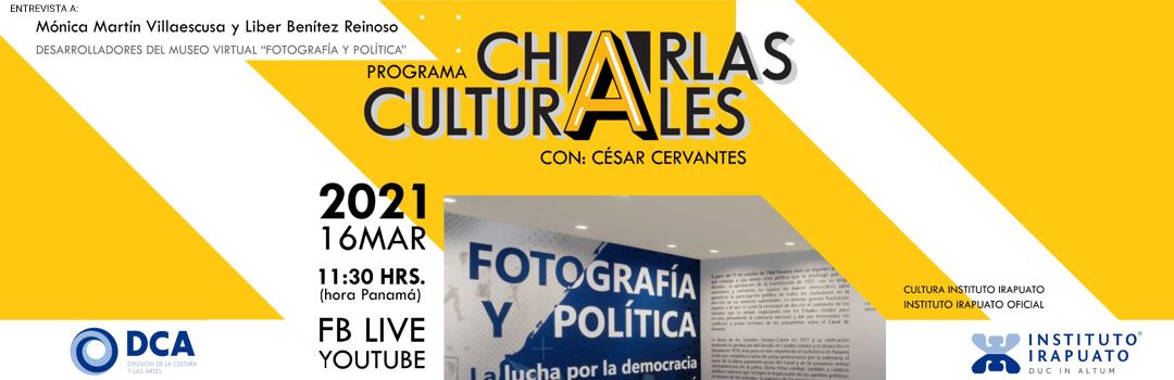 Entrevista en vivo para el programa Charlas Culturales
